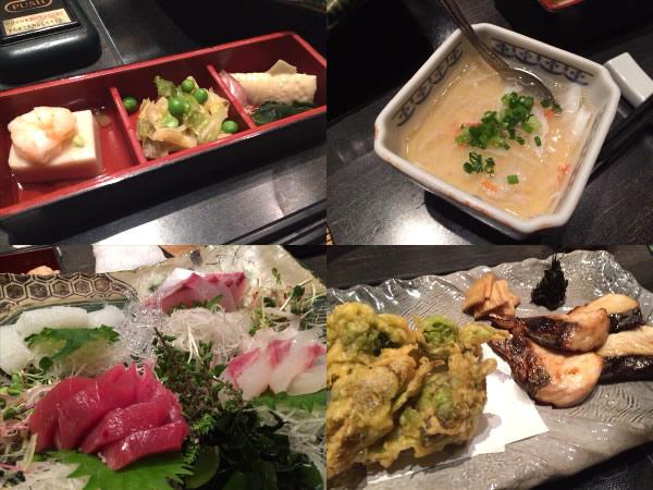 東京オフ会で食べた前菜と刺身
