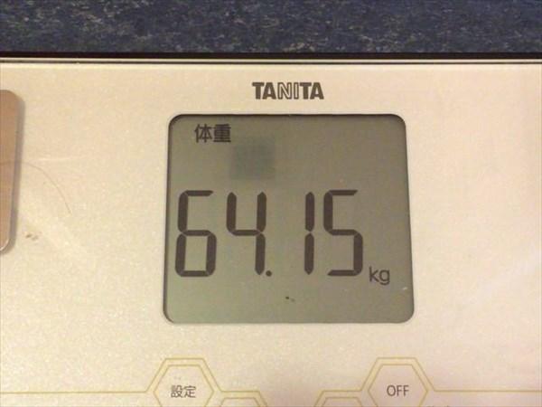 2015年4月第3週の体重64.15kg