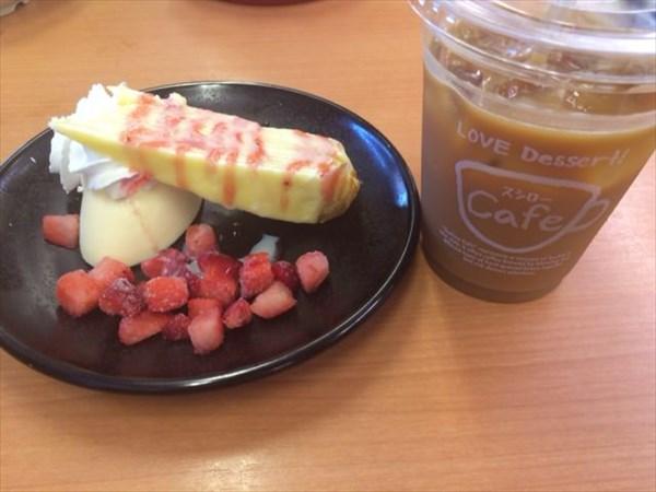 スシローで食べたデザートとコーヒー