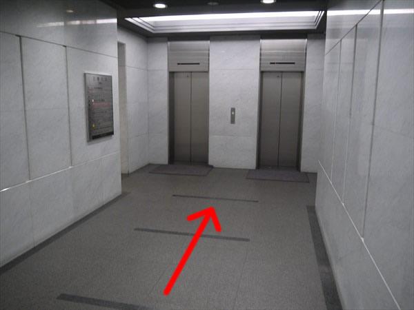 三恵ビルのエレベーターホール