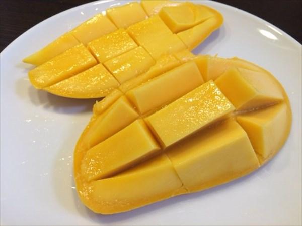 デザートに食べたマンゴー
