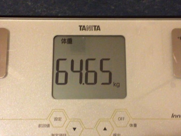 2015年5月第1週の体重64.65kg