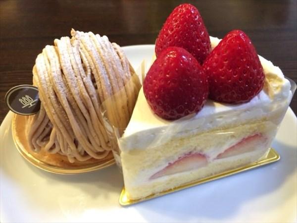モンブランとショートケーキ