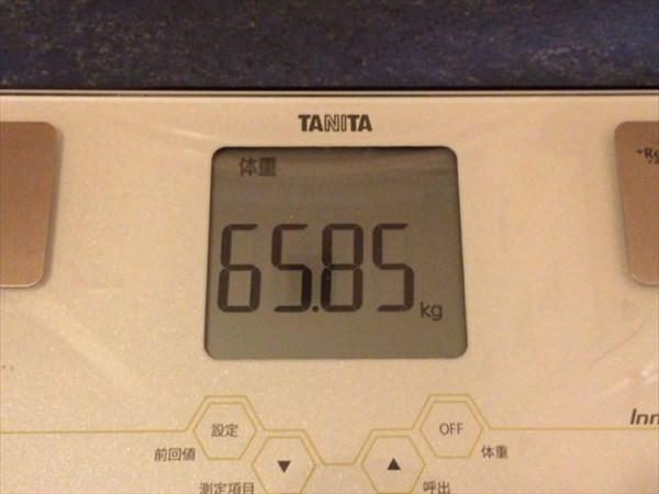 2015年5月第2週の体重65.85kg