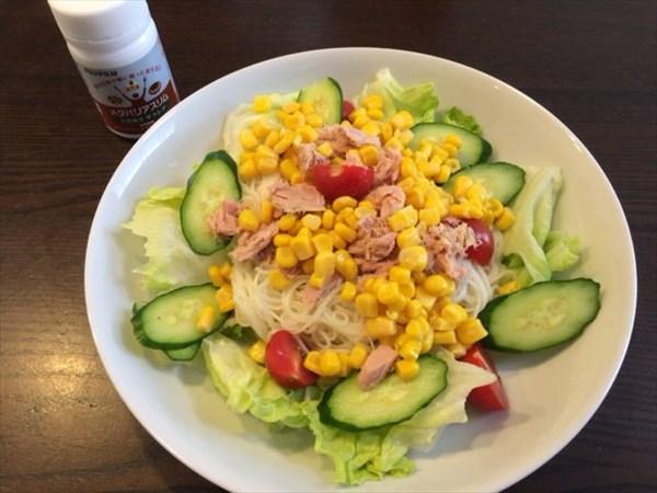 サラダ素麺とメタバリアスリム