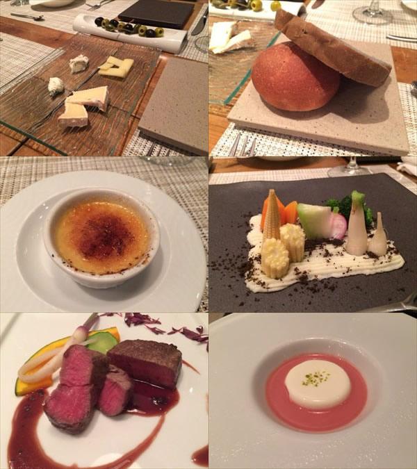 ル・プリュースのコース料理