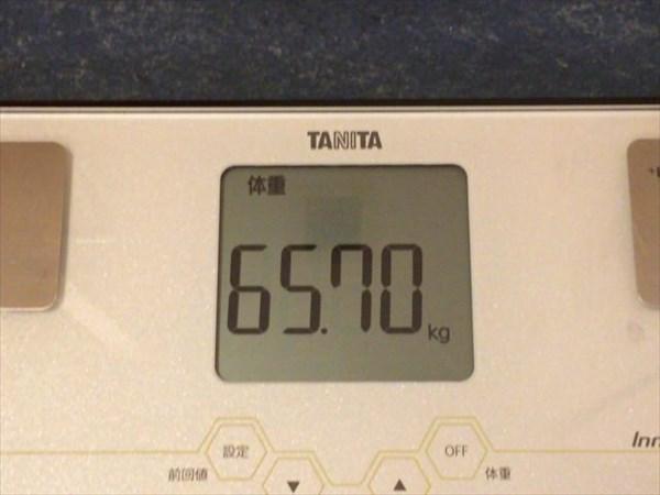 2015年5月第3週の体重65.7kg