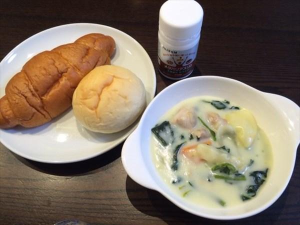 シチューと塩パンとメタバリアスリム