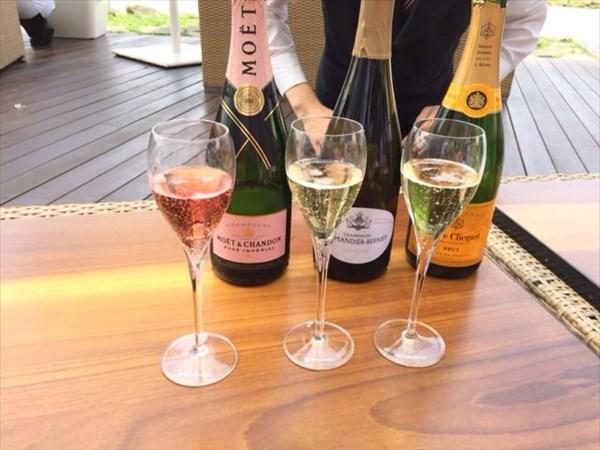 シャンパン3種類飲み比べ