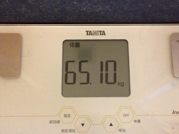 2015年5月第4週の体重65.1kg