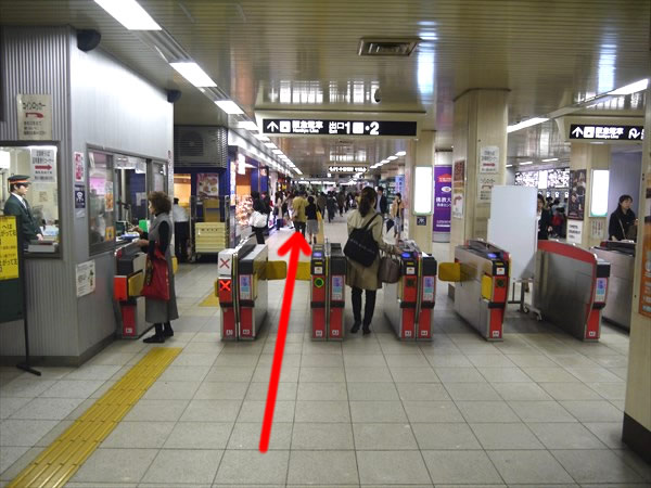 四条駅の北改札付近