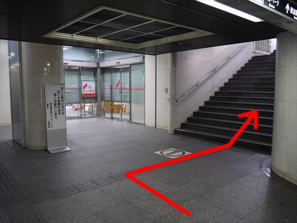 出口に続く階段