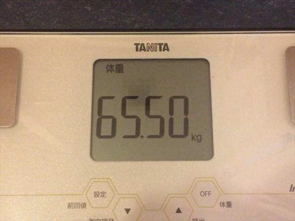 2015年5月第5週の体重65.5kg