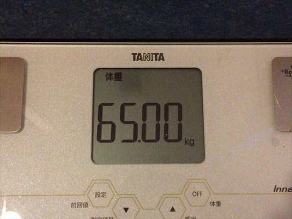 2015年6月第1週の体重65.0kg