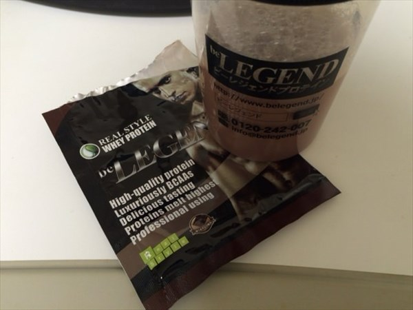朝食のビーレジェンドプロテイン(激うまチョコ風味)
