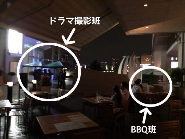 BBQ班とドラマ撮影班