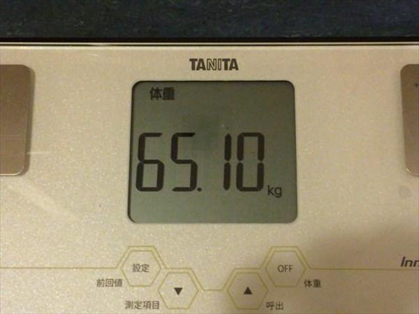 2015年6月第3週の体重65.1kg