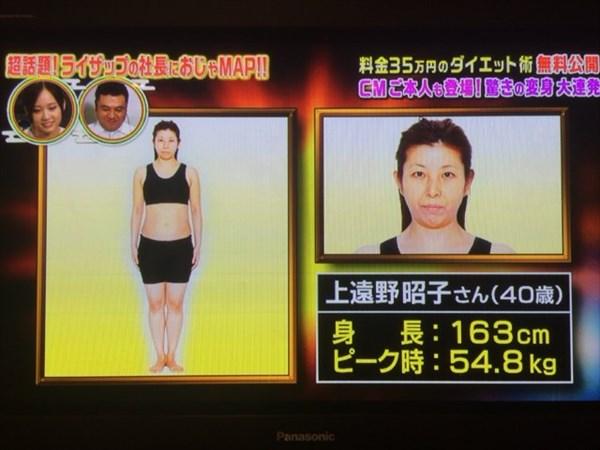 上遠野昭子さんのビフォーデータ