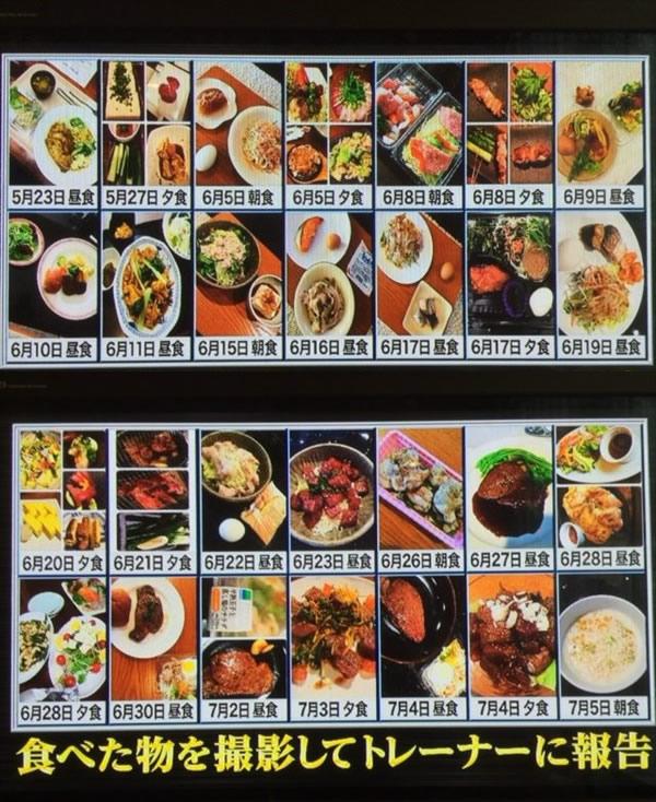 岡村のライザップ式食事内容