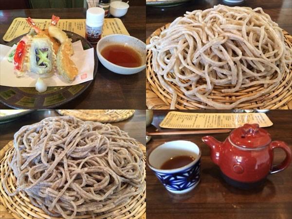 天ぷら盛り合わせと二色せいろセットとメタバリアスリム