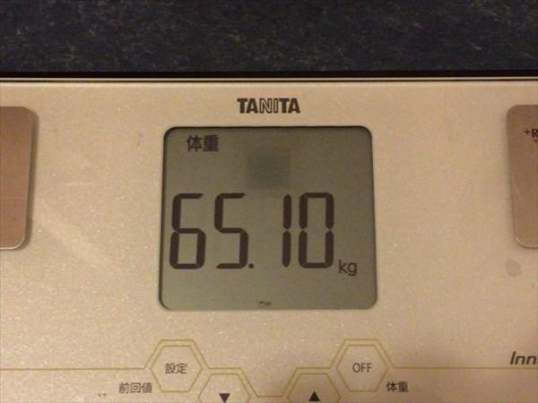 2015年6月第4週の体重65.1kg