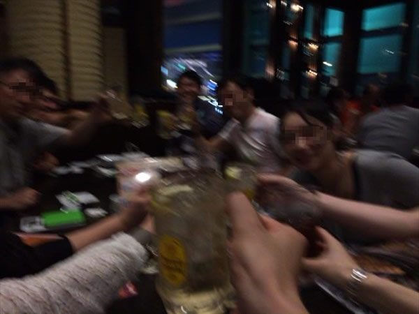 二次会二回目の乾杯!