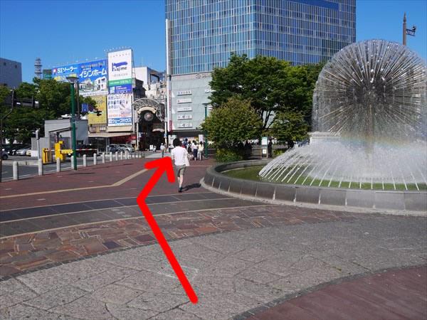 広場にある噴水