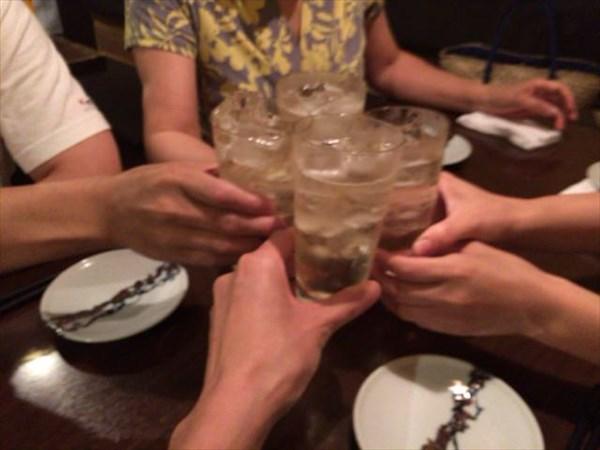一回目の乾杯!