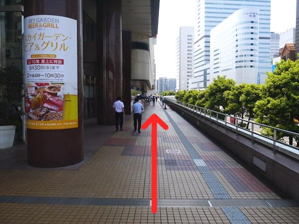 そごうの右側の通路