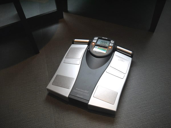 各ブースにある体脂肪計