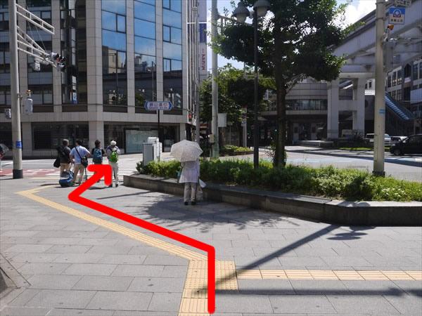 大きめの横断歩道