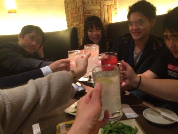 三次会で乾杯!