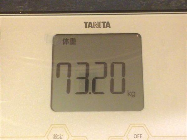 チアシードダイエット開始時点の体重73.2kg