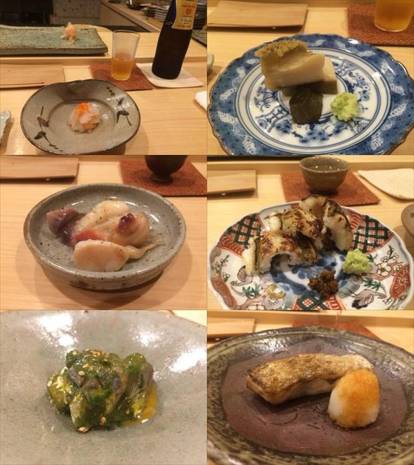 6/17の夜に食べた寿司屋の料理