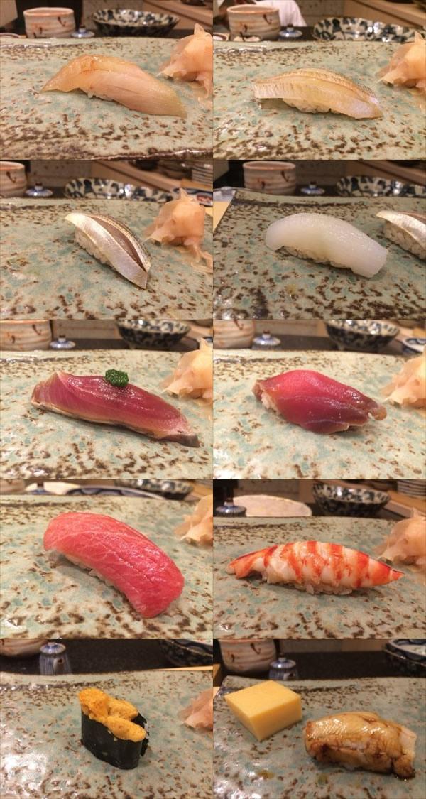 6/17の夜に食べた寿司10カン