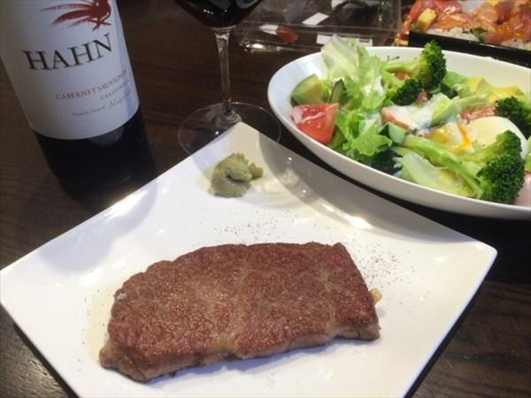 父の日に食べたステーキとワイン