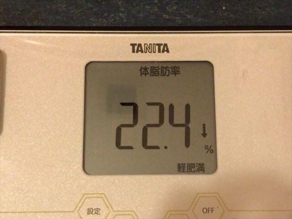 体脂肪率22.4%