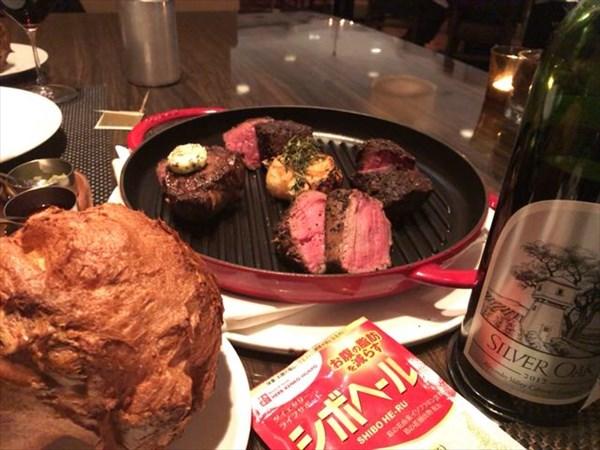 ステーキ盛り合わせとシボヘール