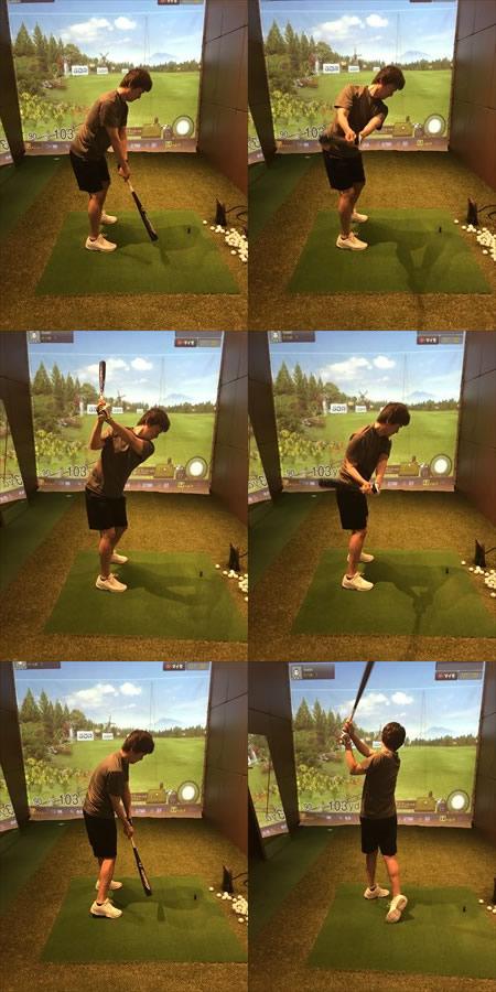 ゴルフスイングの連続写真