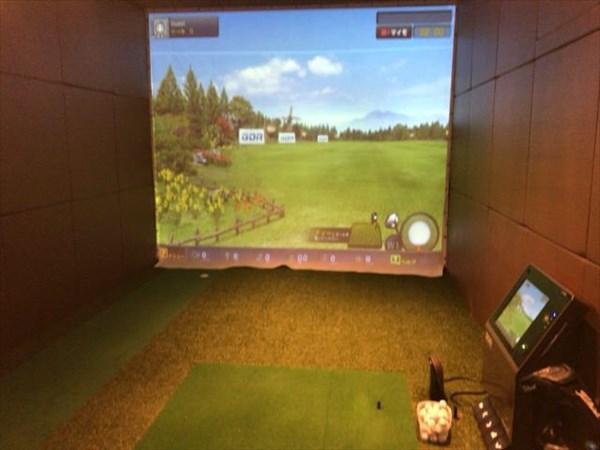 今日のゴルフレッスンで使用したブース