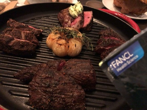 ステーキ盛り合わせにカロリミット
