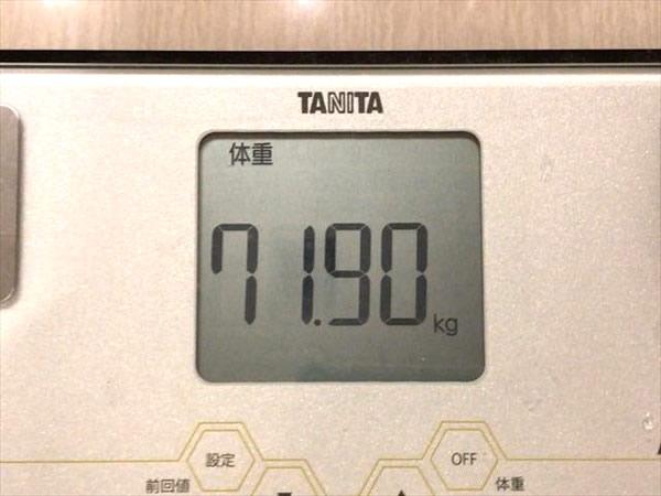 体重71.90kg