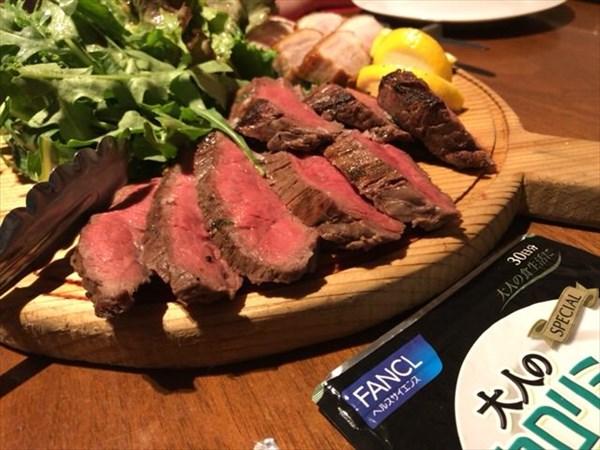 牛肉と豚肉の盛り合わせと大人のカロリミット