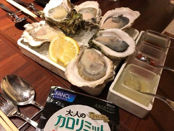 オイスターバーで食べた生牡蠣盛り合わせ