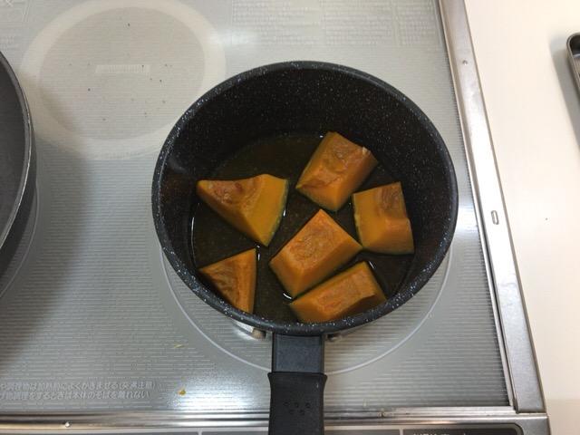 かぼちゃの煮物の材料