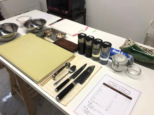 キッチン道具や食材