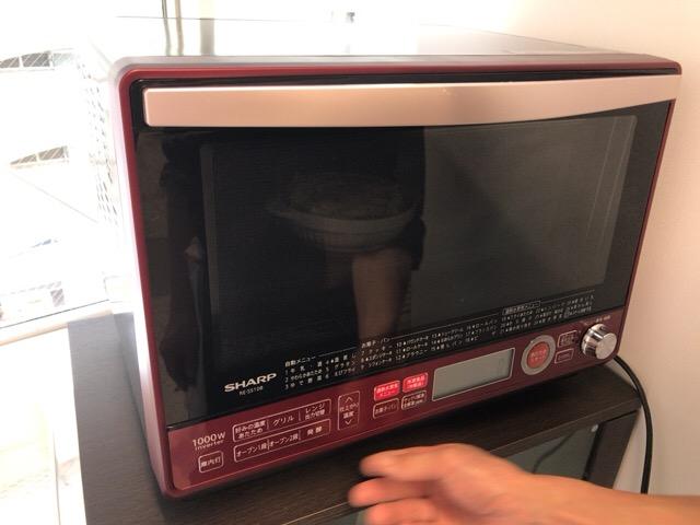 余熱しておいたオーブンで焼く