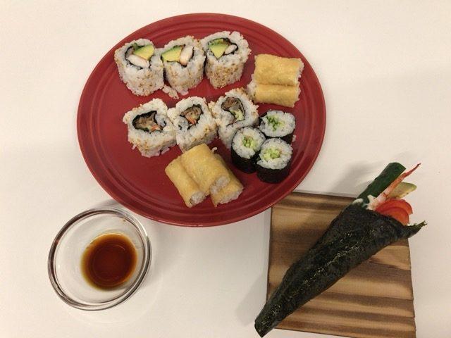 カリフォルニアロール 手巻き寿司試食