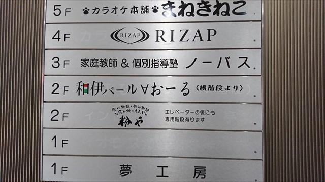 ライザップ松戸店のあるビルの看板